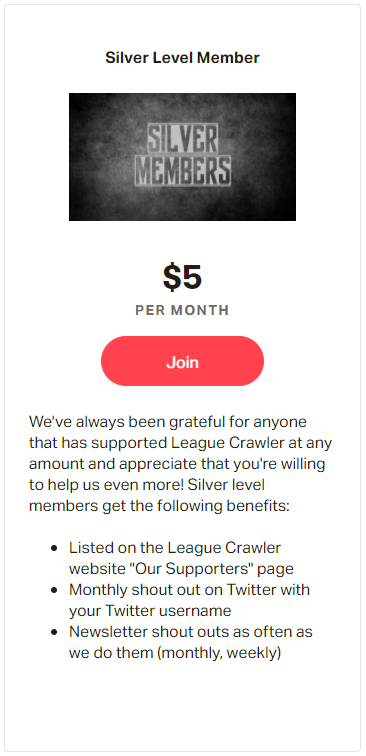 Support League Crawler with Patreon News
